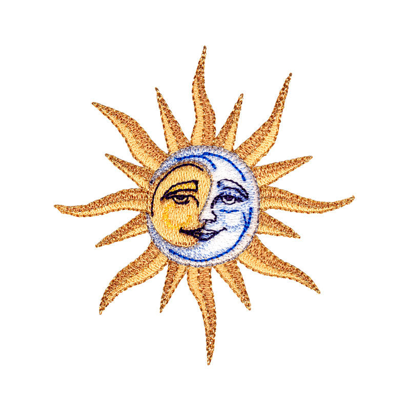 Sun and Moon - FreeEmbroideryDesigns.com