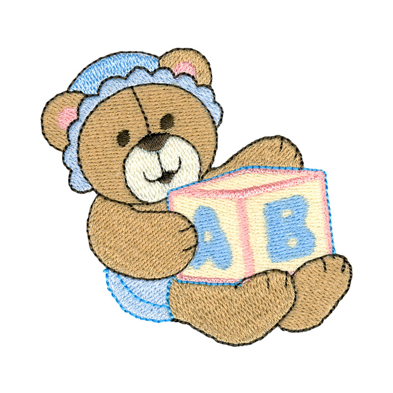 Baby teddy freeembroiderydesigns