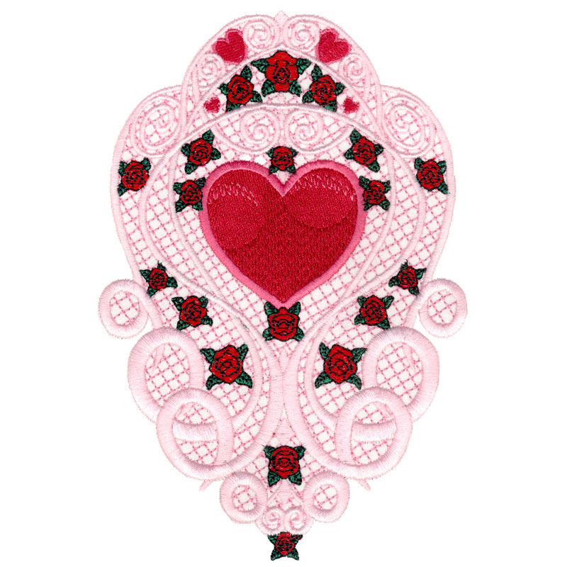 Free Embroidery Design Hearts Lace Sleeve - FreeEmbroideryDesigns.com