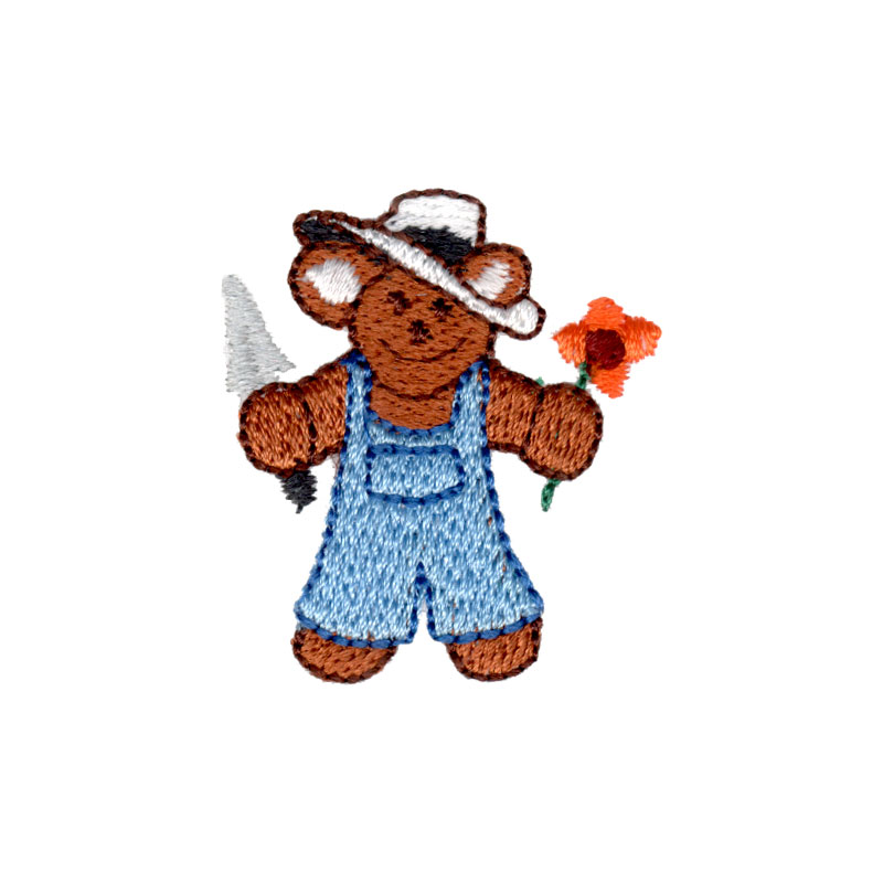 Garden Bear Freeembroiderydesigns Com