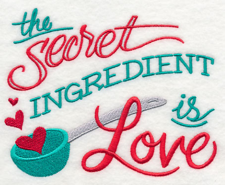 The secret ingredient is love for Love the design