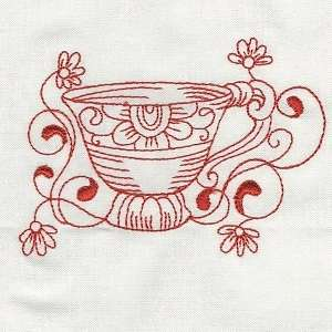 Fancy Tea Cup Freeembroiderydesigns Com