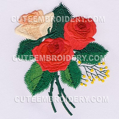 Roses for Garden embroidery designs free