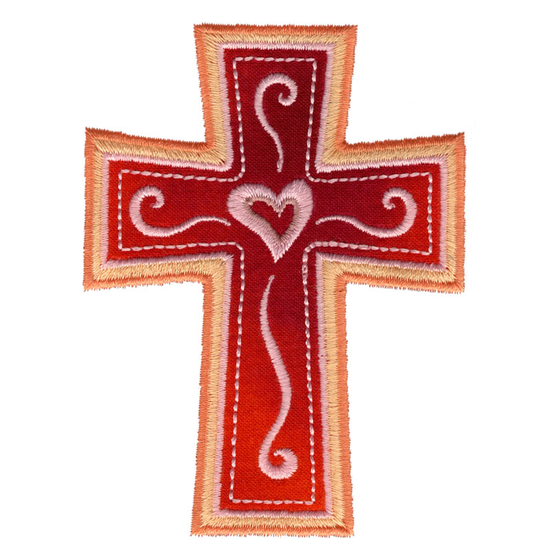Heart applique cross freeembroiderydesigns