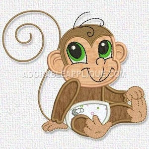 Monkey - FreeEmbroideryDesigns.com