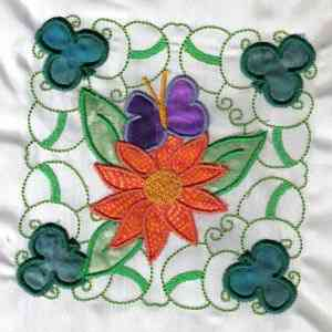 Applique garden quilt block for Garden embroidery designs free