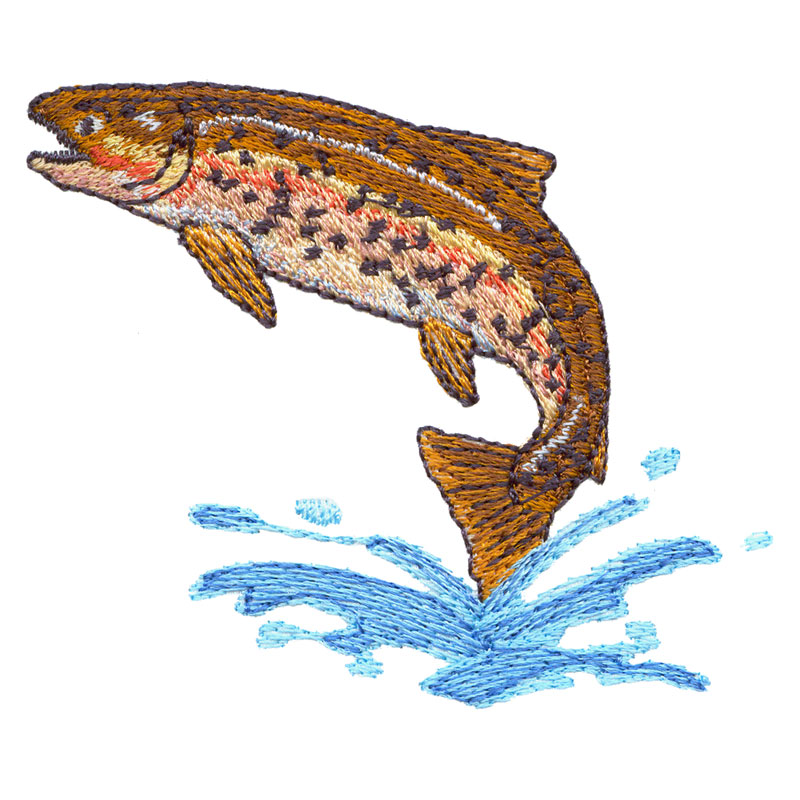 Rainbow trout freeembroiderydesigns