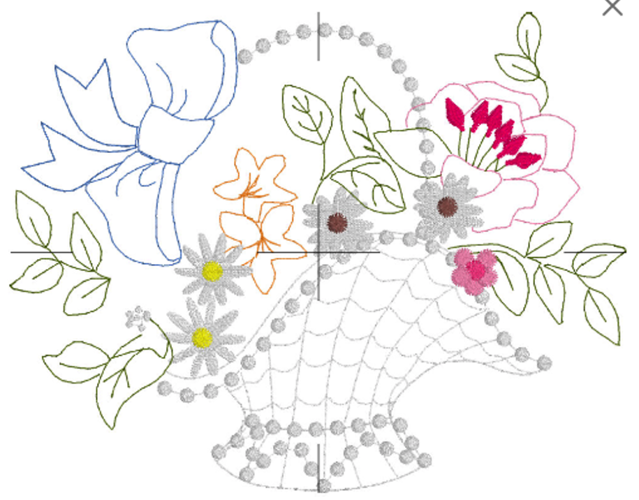 Free Flower Basket Embroidery Designs : Free embroidery design flower basket