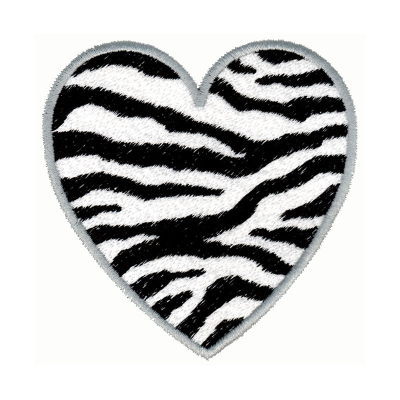 Zebra print heart freeembroiderydesigns